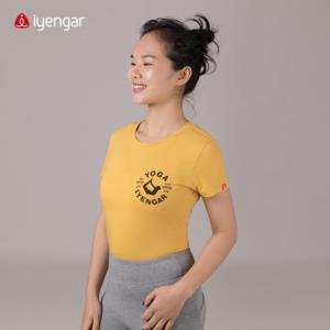 C1040 体式女款T恤 瑜伽基础习练服 32S精梳棉  吸汗 透气 爽身 大师剪影  简约 经典