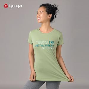 C1039 瑜伽经1.37 女款T恤   瑜伽基础习练服 液态棉  弹力高 免烫  爽身 有垂感  致敬大师经典金句